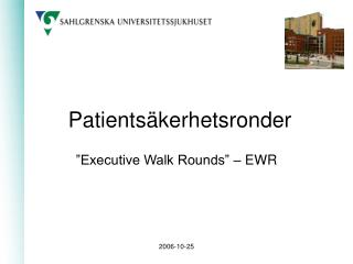 Patientsäkerhetsronder