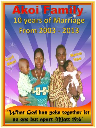 10 years of Marriage From 2003 - 2013