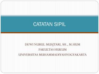 CATATAN SIPIL