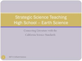 Strategic Science Teaching High School – Earth Science