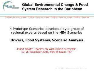Global Environmental Change & Food System Research in the Caribbean