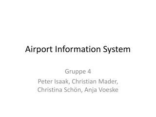 Airport Information System