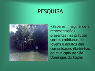 PESQUISA