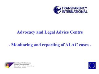 Advocacy and Legal Advice Centre - Monitoring and reporting of ALAC cases -