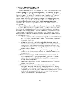 3.2 REGULATION AND CONTROL OF COMMERCIAL BANKS IN IRAN