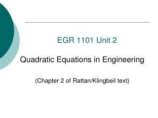 EGR  1101 Unit 2