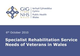 Specialist Rehabilitation Service Needs of Veterans in Wales