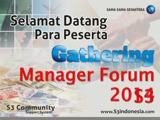 Manager Forum S3