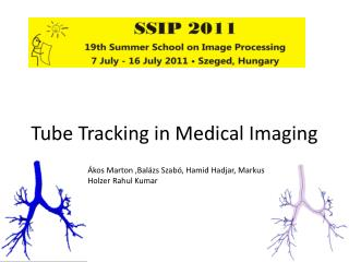 Tube Tracking in Medical Imaging