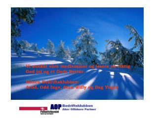Vi ønsker våre medlemmer og lesere en riktig God jul og et Godt Nyttår. Hilsen Bedriftsklubben: