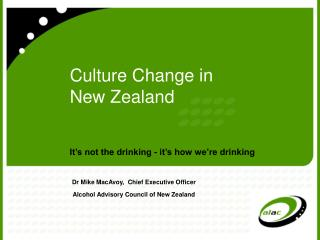 Culture Change in New Zealand