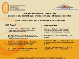 ERT-SPEED CNRS Services Publics et Économies d'Énergie Durables