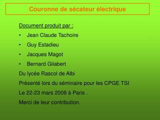 Couronne de sécateur électrique