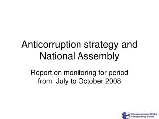 Anticorruption strategy and National Assembly