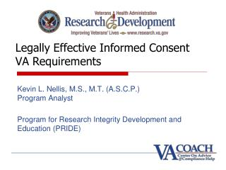 Legally Effective Informed Consent VA Requirements