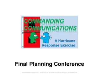 Final Planning Conference