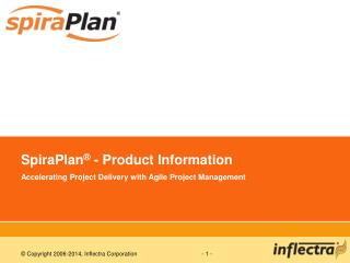 SpiraPlan  - Product Information