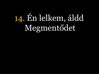 14.  Én lelkem, áldd Megmentődet