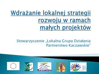 Wdrażanie lokalnej strategii rozwoju w ramach  małych  projektów