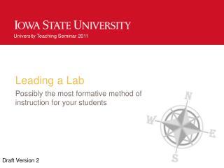 Leading a Lab