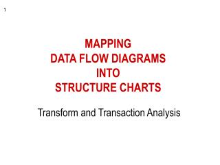 MAPPING DATA FLOW DIAGRAMS  INTO  STRUCTURE CHARTS