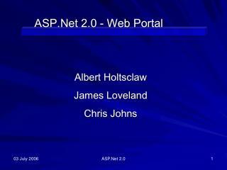 ASP.Net 2.0 - Web Portal