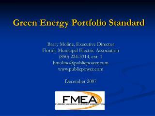 Green Energy Portfolio Standard