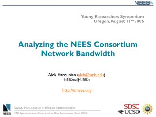 Analyzing the NEES Consortium Network Bandwidth