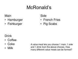 McRonald's