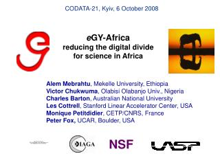 e GY-Africa reducing the digital divide for science in Africa