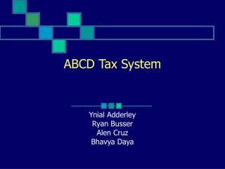ABCD Tax System