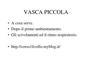 VASCA PICCOLA