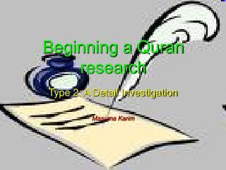 Beginning a Quran research