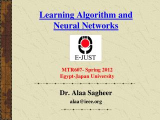 Learning Algorithm and Neural Networks