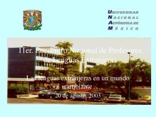 11er. Encuentro Nacional de Profesores de Lenguas Extranjeras