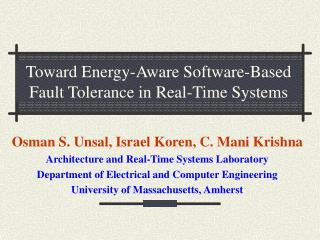Toward Energy-Aware Software-Based Fault Tolerance in Real-Time Systems
