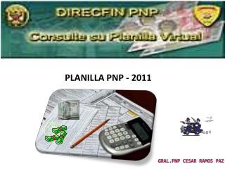 PLANILLA PNP - 2011