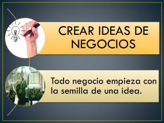 A continuación una lista que te puede ayudar a crear una idea de negocio