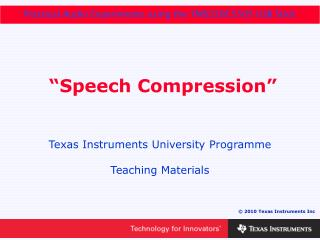 �Speech Compression�
