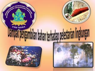 Dampak pengambilan bahan terhadap pelestarian lingkungan