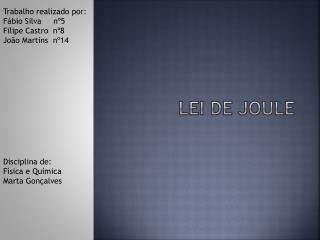 Lei de Joule