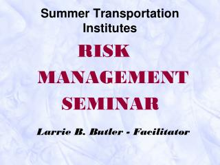 Summer Transportation Institutes