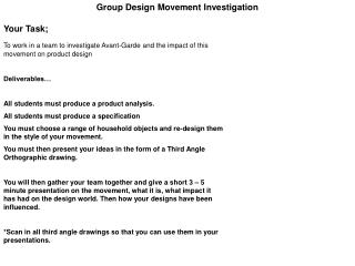 Group Design Movement Investigation