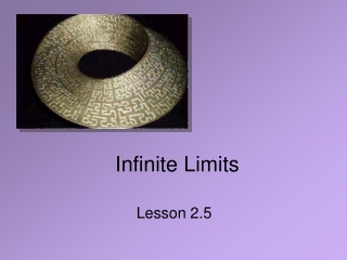 Limits and the Infinity