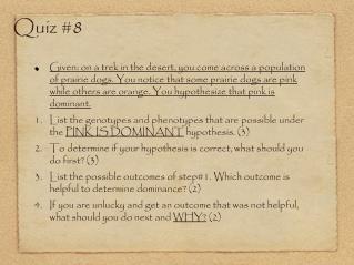 Quiz #8