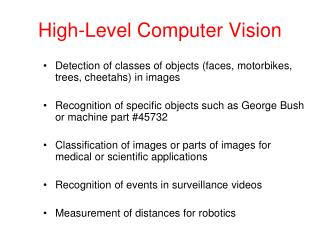 High-Level Computer Vision