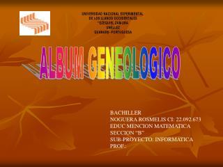 ALBUM GENEOLOGICO