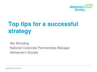 Top tips for a successful strategy