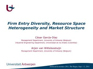 Firm Entry Diversity, Resource Space Heterogeneity and Market Structure