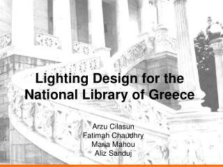 Lighting Design for the National Library of Greece
